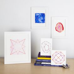 These days I've been obsessive about geometric patterns. The steadiness between easy and daring, mesmerizing and minimal seize my creativeness. Brush Embroidery, Dmc Embroidery Floss, Embroidery Needles, Geometric Artwork, Geometric Patterns, Middle School Art, How To Make Diy, Artwork Design, Paper Clip