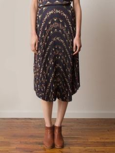 OLENE PLEATED SILK SKIRT // Pendleton Portland Collection