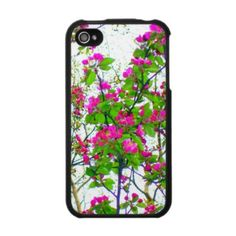 'CHERRY BLOSSOM ABSTRACT' iPHONE 4 CASE, by The Flying Pig Gallery on Zazzle (lizadeyphoto) - An abstract digital painting (from photo) of bright pink cherry blossoms give this case a fresh, springtime feel.  Also available for iPhone 3.
