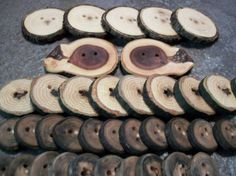 Wooden Button Variety Pack 50 Buttons 1 Inch by PymatuningCrafts, $26.00