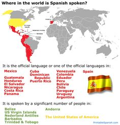 Online Spanish Textbook FREE printable lesson: Spanish Speaking Countries -- from PrintableSpanish.com