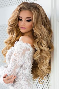 18 wedding hairstyles for every hair length ❤ More information: www. - Wedding - # for # hair length # wedding hairstyles - Lockige frisuren - Hairdos Ideas Wedding Hair And Makeup, Bridal Hair, Hair Makeup, Hair Wedding, Ribbon Wedding, Bride Makeup Blonde, Eyebrow Makeup, Wedding Vows, Boho Wedding