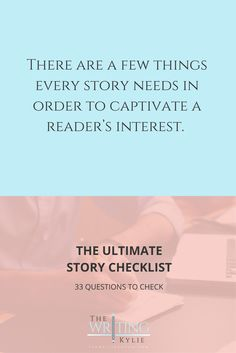 The Ultimate Story Checklist: 33 Questions to Check ? a FREE Download