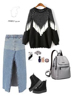 """fashion"" by yumiko-merrily on Polyvore featuring ファッション, RE/DONE, WithChic, River Island, Charlotte Tilbury と Deborah Lippmann"