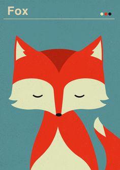 Fox, tiny, illustration, color in Illustration