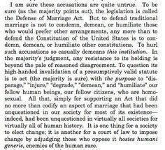 Scalia's DOMA dissent