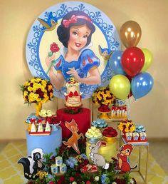 Princess Birthday Party Decorations, Girl Birthday Themes, 1st Birthday Parties, Free Printable Wedding Invitations, Snow White Birthday, Barbie, Alice, Snow White Art, Princess Party