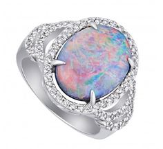 Giverny Opal Ring - Engagement Rings