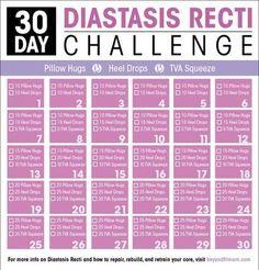 Exercises to Repair Diastasis Recti | How to Heal Diastasis Recti Fitness Workouts, Sport Fitness, At Home Workouts, Fitness Tips, Health Fitness, Yoga Fitness, Physical Fitness, Fitness Goals, Fitness Quotes