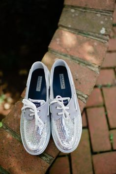Sequined Sperrys! Who says wedding shoes can't be comfortable and cute?