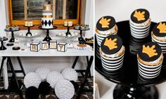 Gold + Black Little Prince Baby Shower
