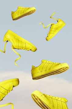 Take a look at photographer James Tolich's wonderfully surreal images of the adidas Superstar 'Supercolor'.