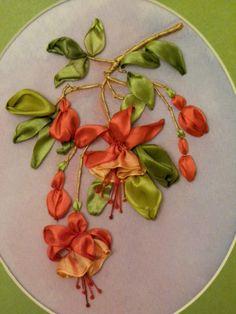 Ribbon embroidery of fuschia flowers - Gallery.ru / Фото #181 - Вышивка лентами-7 - pskov-sveta