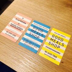 二子玉川の蔦屋家電に入ってるGOOD MEALS SHOPのショップカード。