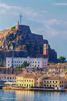 Corfu Town, Corfu Island, Corfu Greece, San Francisco Ferry, Palaces, Street, Castles, Building, Islands