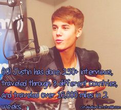 Justin Bieber Facts. He is only human give him a break
