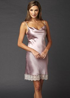 Julianna Rae Camille Silk Chemise in Sweat Pea a75aceed1