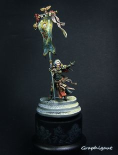 Sisters of Battle miniature conversion. Absolutely stunning.