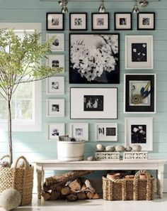 great living room idea by Genia3217 Black And White Wall Art, Picture Wall, Photo Wall, Hanging Pictures, Decoration, Sweet Home, Interior Design, Collage, Instagram Posts