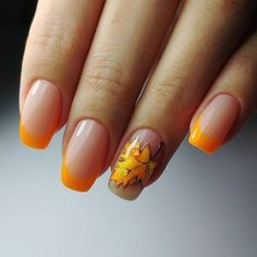25 Leaf Nail Art Designs To Try This Fall Nail art is the very best invention in the beauty the appearance of nails drastically. Acrylic can grow your nails in a few minutes and the very best Fall Nail Art Designs, Halloween Nail Designs, Nail Polish Designs, Halloween Nails, Orange Nail Designs, Classy Halloween, Halloween Recipe, Women Halloween, Halloween 2020