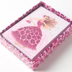 Bella Pilar Pink Animal Print Girl Blank Notes Price $15.95