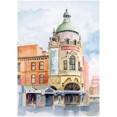 Blackpool Grand Theatre - a high quality print reproduction of an original painting from the Seaside Emporium