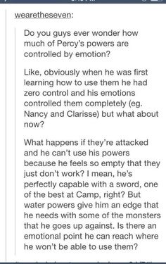 I've thought of this.  This is why Jason's powers are more stable.