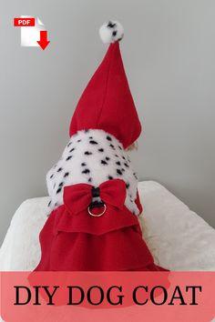 Dog Coat sewing Pattern PDF #smalldogfashion #dogcoat #dogclothes #sewingpattern #coatpattern Small Dog Coats, Small Dog Clothes, Pet Clothes, Small Dogs, Dog Coat Pattern, Hood Pattern, Coat Pattern Sewing, Dog Clothes Patterns, Coat Patterns