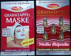 Meine Mutter durfte die Granatapfel Maske und das Granatapfel Regenerations-Konzentrat von Schaebens testen.