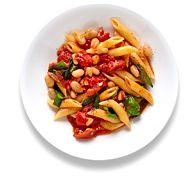 Easy Dinner Dish - Pasta, Tomatoes, & Beans