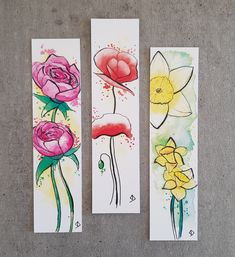 Watercolor Books, Watercolor Bookmarks, Watercolor Cards, Watercolor Print, Book Lovers Gifts, Book Gifts, Watercolor Painting Techniques, Watercolor Paintings, Creative Bookmarks