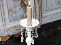 0307ae74f Chic Antique / Dekoratívny krúžok na sviečky White crystal Svietniky,  Sviečky, Kryštály