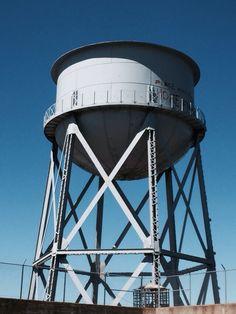 Water tower, Alcatraz Water Tower, Natural World, Fair Grounds, California, Nature, Naturaleza, Nature Illustration, Off Grid, Natural