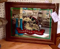 A personal favorite from my Etsy shop https://www.etsy.com/listing/263634875/vintage-moosehead-beer-bar-mirror