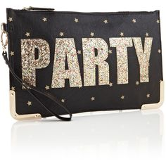 Accessorize Glitter Party Clutch ($9.99) ❤ liked on Polyvore featuring bags, handbags, clutches, frames & background, glitter, text, glitter clutches, accessorize purses, pattern purse and party clutches