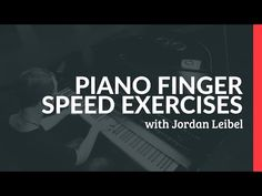 Piano Finger Speed Exercises - Piano Lessons (Pianote) - YouTube