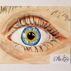 #art #damonfizzy #watercolor #eye #painting #blue #artsy