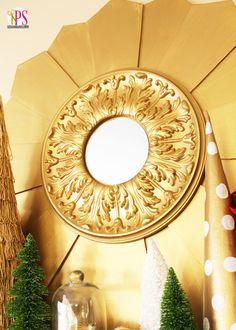 "DIY Sunburst Mirror - finally a sunburst mirror tutorial that doesn't look ""homemade""!"
