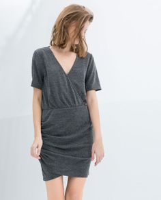 ZARA - TRAFALUC - DRESS WITH CROSSOVER NECKLINE