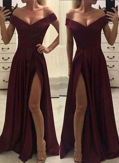 Off Shoulder Burgundy Prom Dress,Sexy Prom Dress,Cheap Prom Dress,Split Long Prom Dress, Shop plus-sized prom dresses for curvy figures and plus-size party dresses. Ball gowns for prom in plus sizes and short plus-sized prom dresses for Gold Prom Dresses, Prom Dresses For Sale, A Line Prom Dresses, Dresses For Teens, Evening Dresses, Summer Dresses, Wedding Dresses, Long Dresses, Burgundy Bridesmaid Dresses