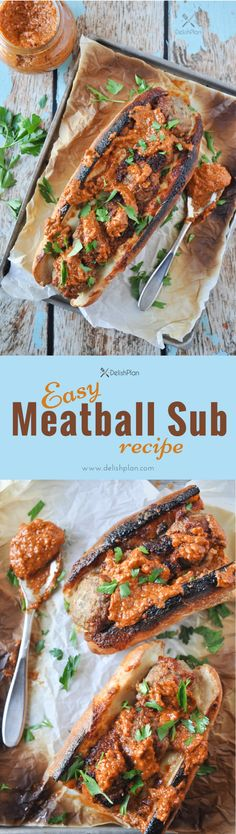 Easy meatball sub recipe that calls for only 5 ingredients and 10 minutes of your time. Wrap up this satisfying meal with a few leftover meatballs. Easy Family Meals, Quick Easy Meals, Family Recipes, Crockpot Recipes, Healthy Recipes, Healthy Food, Sweets Recipes, Delicious Recipes, Desserts