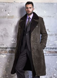 Ralph Lauren Purple label. ( see Shearling on gorgeous men everywhere this fall.)