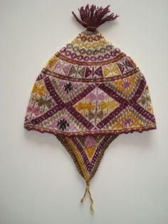 Alpaca woolen sherpa hat butterfly model, brown-ocher PopsPlaza, Peruvian products direct from Peru http://blog.popsplaza.com/works/woolen-sherpa-hat-butterfly-model-brown-ocher/