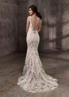 Vestido de noiva Aubree, Coleção Badgley Mischka. Corte sereia.