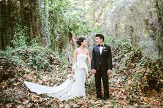 love the juxtaposition of the elegant clothing and the woods