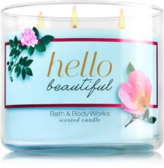 Hello Beautiful 3-Wick Candle - Home Fragrance 1037181 - Bath & Body Works