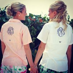 @mrs_bsk @_mrskp #besties #wedding #bride #matronofhonor #monogram #preppy #columbia #southern #lillypulitzer #bff #bestfriends