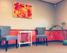Our colorful and comfy waiting room!