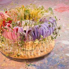 techniek: rijgen van schelpen,bloemen klemmen