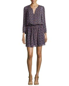 Xyla Geo-Print Crepe Dress by Joie at Neiman Marcus.